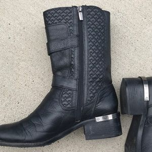 Vince Camuto Shoes - Vince Camuto Welton quilted  moto boots size 8.5M